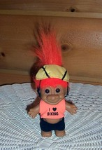 """RUSS 5"""" Troll Bright Orange Haired Biking Pro in Outfit with Riders Soft Helmet - $5.69"""