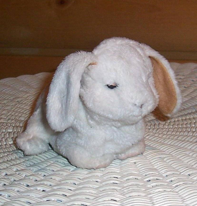 "Primary image for FurReal Friends Sound & Action White Plush 7"" Newborn Bunny Rabbit"