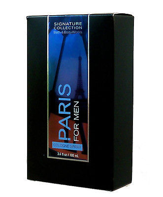 Paris by Bath Body Works for Men 3.4 oz Cologne Spray