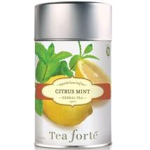 Tea Forte Citrus Mint Herbal Tea - Loose Leaf Tea Canister - 50 Servings Caniste - $15.75