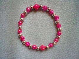 Damen und Mädchen Perlen Armband in Pink Handmade - $14.00