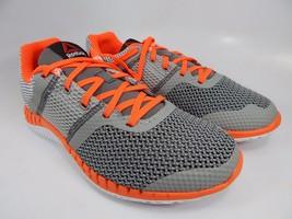 Reebok Zprint Run Boy's Men's Running Shoes Sz US 5.5 Y EU 37 Gray Orange AQ9667