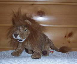 """Folkmanis Plush 11"""" Brown Full Mane Lion w/ Toothy Grin Small Hands Body Puppet - $12.79"""