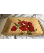 """AMBIANCE """"FLEUR RUSTIQUE"""" RED POPPY LARGE 16"""" SERVING PLATTER TRAY PLATE... - $54.99"""