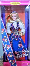 1995 Mattel Collector Edition Dolls of the World Norwegian Barbie Doll 0... - $18.50