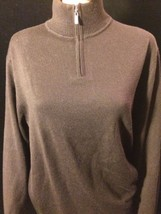 alfani Womens Size Medium  Black Half Zipp Up Sweater Bin #21 - $11.29