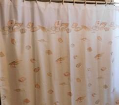 Croscill Home Bermuda Sands Shower Curtain Blue Beige Beach Seashells Ocean - $14.01