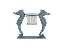 Cast Iron Seahorse Votive Candle Holder - $26.17