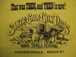 Vintage Santa-Cali-Gon Days Three Trails Festival 1991 Missouri T Shirt ... - $15.83