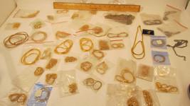 Lot of 40+ Various Costume Jewellery Gold Color Neckalces Bracelets 1.5lb+ - $55.95