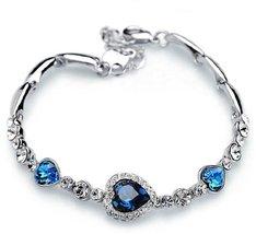 Korean Hot Women's Classic Heart of Ocean Crystal Bracelet - One item with ra... image 1