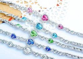 Korean Hot Women's Classic Heart of Ocean Crystal Bracelet - One item with ra... image 2