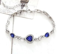 Korean Hot Women's Classic Heart of Ocean Crystal Bracelet - One item with ra... image 4