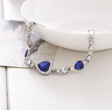 Korean Hot Women's Classic Heart of Ocean Crystal Bracelet - One item with ra... image 5
