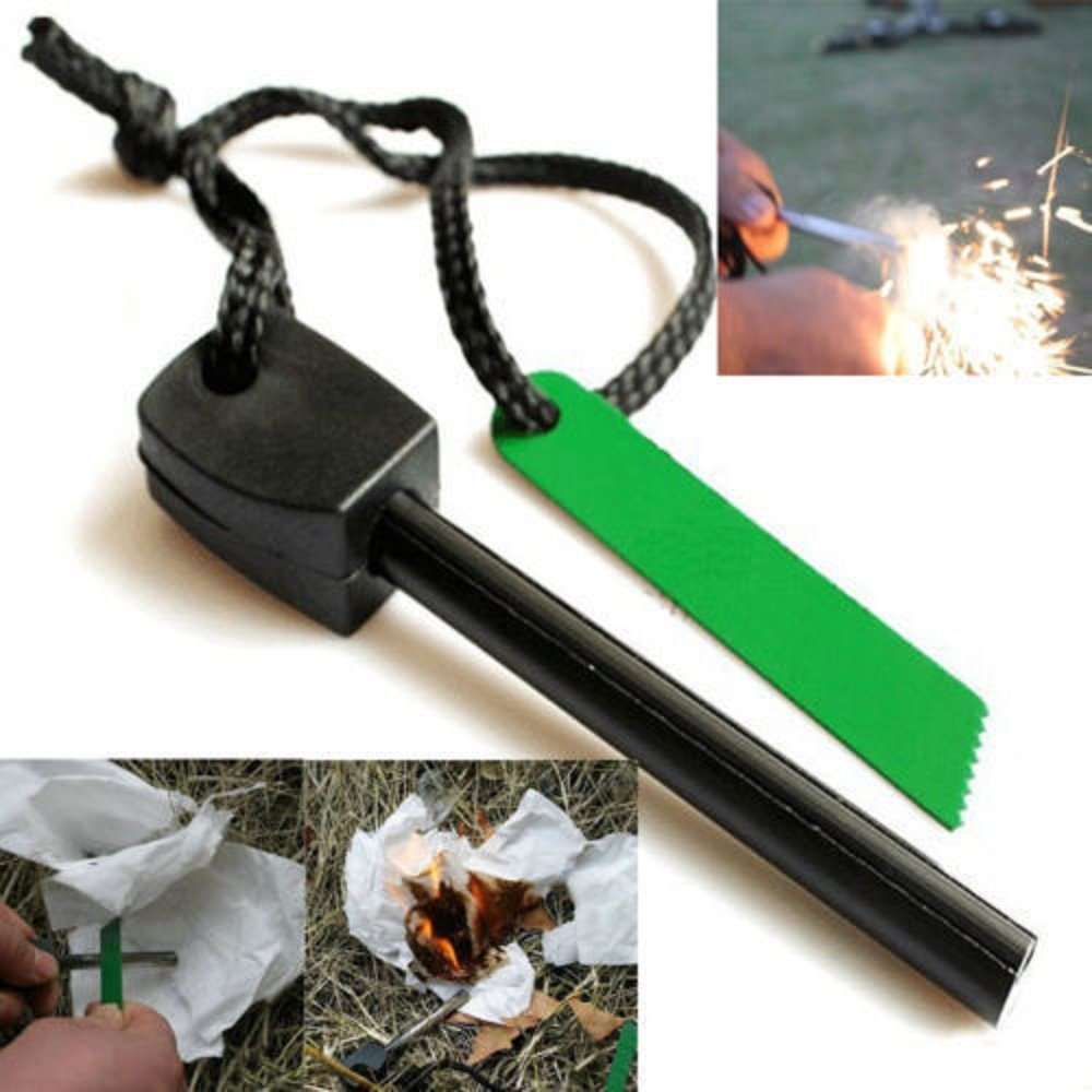 Magnesium Flint Stone Fire Starter Lighter Emergency Survival Camping Tool - ...