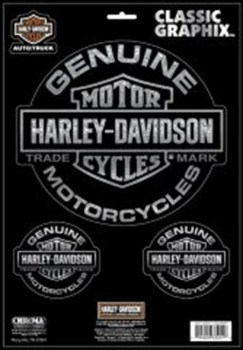 Chroma 33201 Harley Davidson Genuine Motorcycle Decal (3pc)