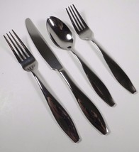 4 Pc Oneida COMET Stainless Flatware Salad Dinner Forks Knife Oval Spoon Glossy - $23.75