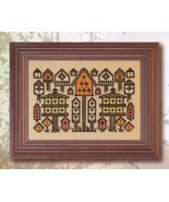 Arranging Birdhouses cross stitch chart Ink Cir... - $6.00