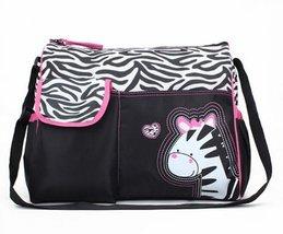 Trendy Boutique Black & White Zebra Striped Pink Zebra Diaper Bag - $29.69