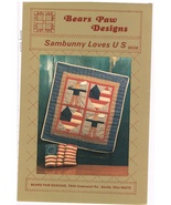 Sambunny Loves Us Applique Quilting Wall Hanging Craft Pattern - $6.99