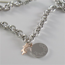 925 RHODIUM SILVER JACK&CO BRACELET WITH 9KT GOLD JACK RUSSEL DOG  MADE IN ITALY image 2