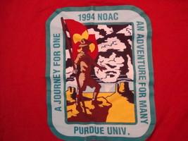 Vintage 1994 Noac Purdue Univ. Adventure For Many Boy Scouts Group T Shirt XL - $17.81