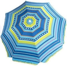 """80"""" Beach Umbrella with Tilt and Carrying Bag Super Strong Ribs SPF 40+ - $59.95"""