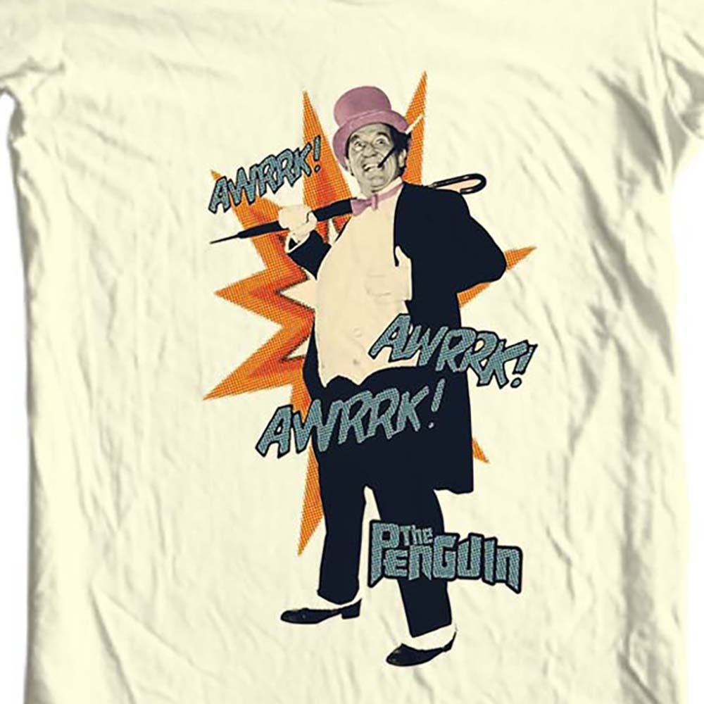 The Penguin T-shirt Burgess Meredith Bat-Man villain vintage TV show cotton tee