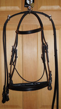 Bobby's WB Sz Padded Black MonoCrown Flash or Non Flash Dressage Bridle ... - $192.00