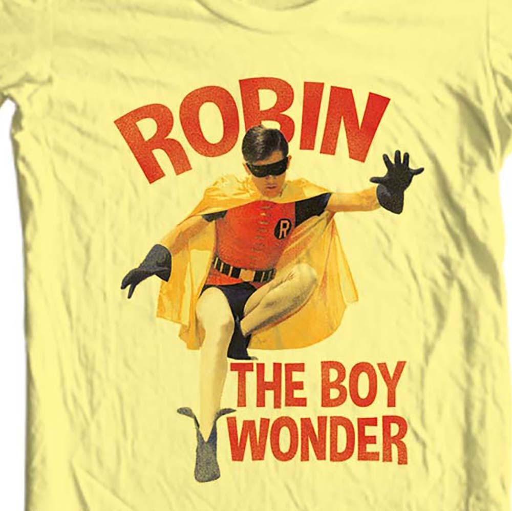 Robin boy wonder bat man yellow t shirt