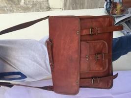 2017 Men's Vintage Looking Leather Messenger Bag Briefcase Shoulder Bag Handmade image 5