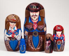 """Cowboy Nesting Doll - 5"""" w/ 5 Pieces - $36.00"""