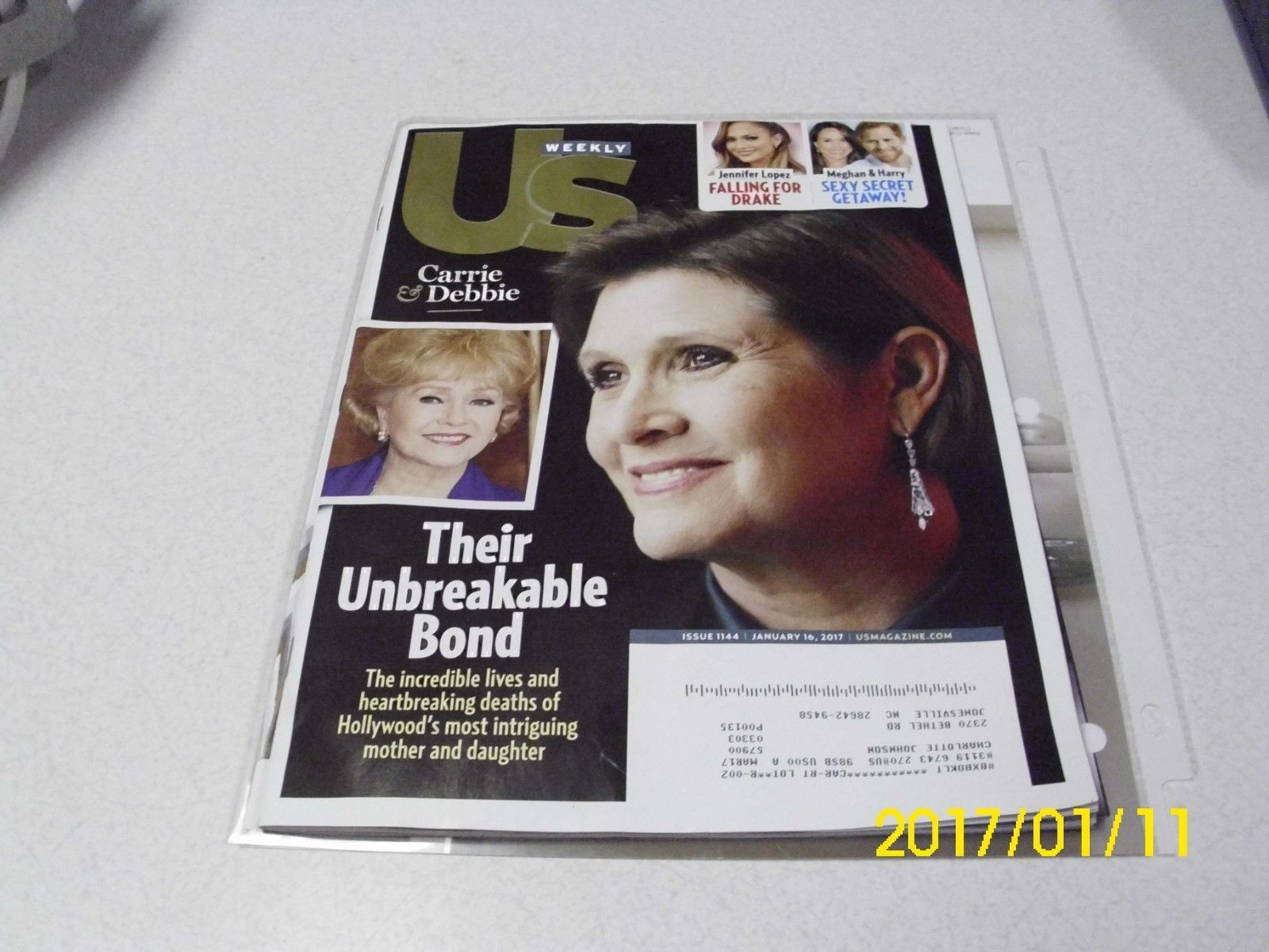 US Weekly CARRIE FISHER Debbie Reynolds George Michael Farewell 1/16/17 edition