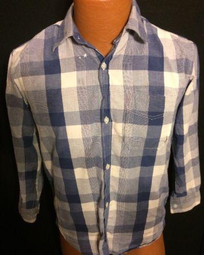 GAP Kids XL Striped Blue Button Up Bin #20