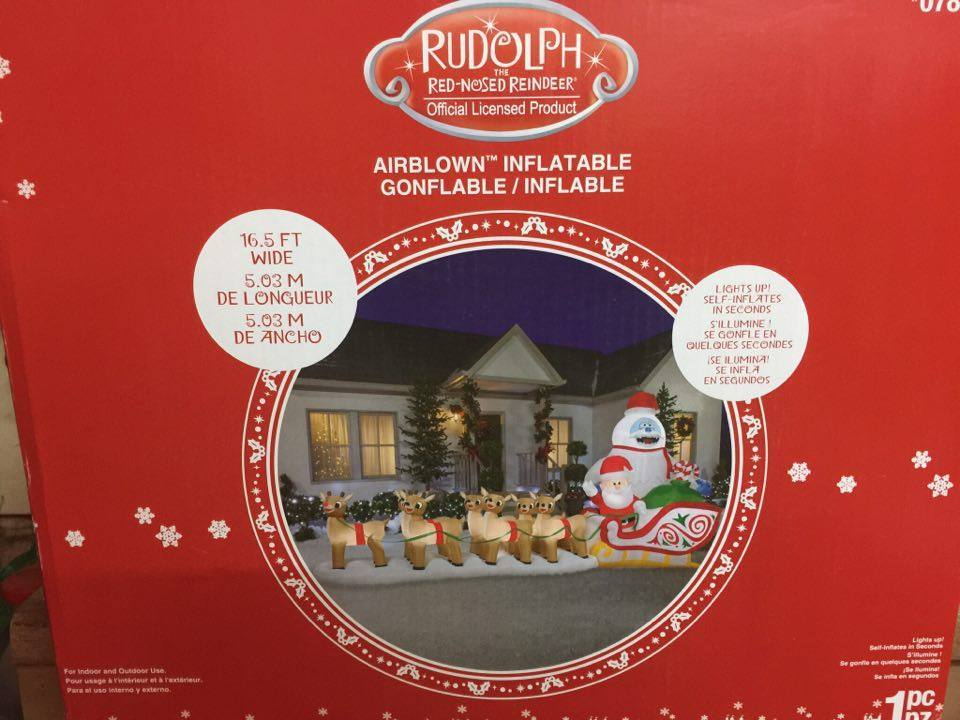 Brand new! Christmas 16.5 rudolph the red nose reindeer airblown Inflatable yard