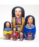 """Native American Princesses Nesting Doll - 5"""" w/ 5 Pieces - $36.00"""