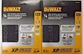 DeWalt DWAM4323 120 Grit 1/4 Sheet Mesh Sandpaper 2-5pks. (10 Sheets) - $2.97