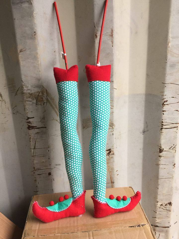Christmas elf feet picks for christmas tree elf bottoms red holiday