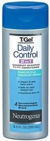 Neutrogena T/Gel Daily Control 2-in-1 Dandruff Shampoo Plus Conditioner, 8.5 Flu