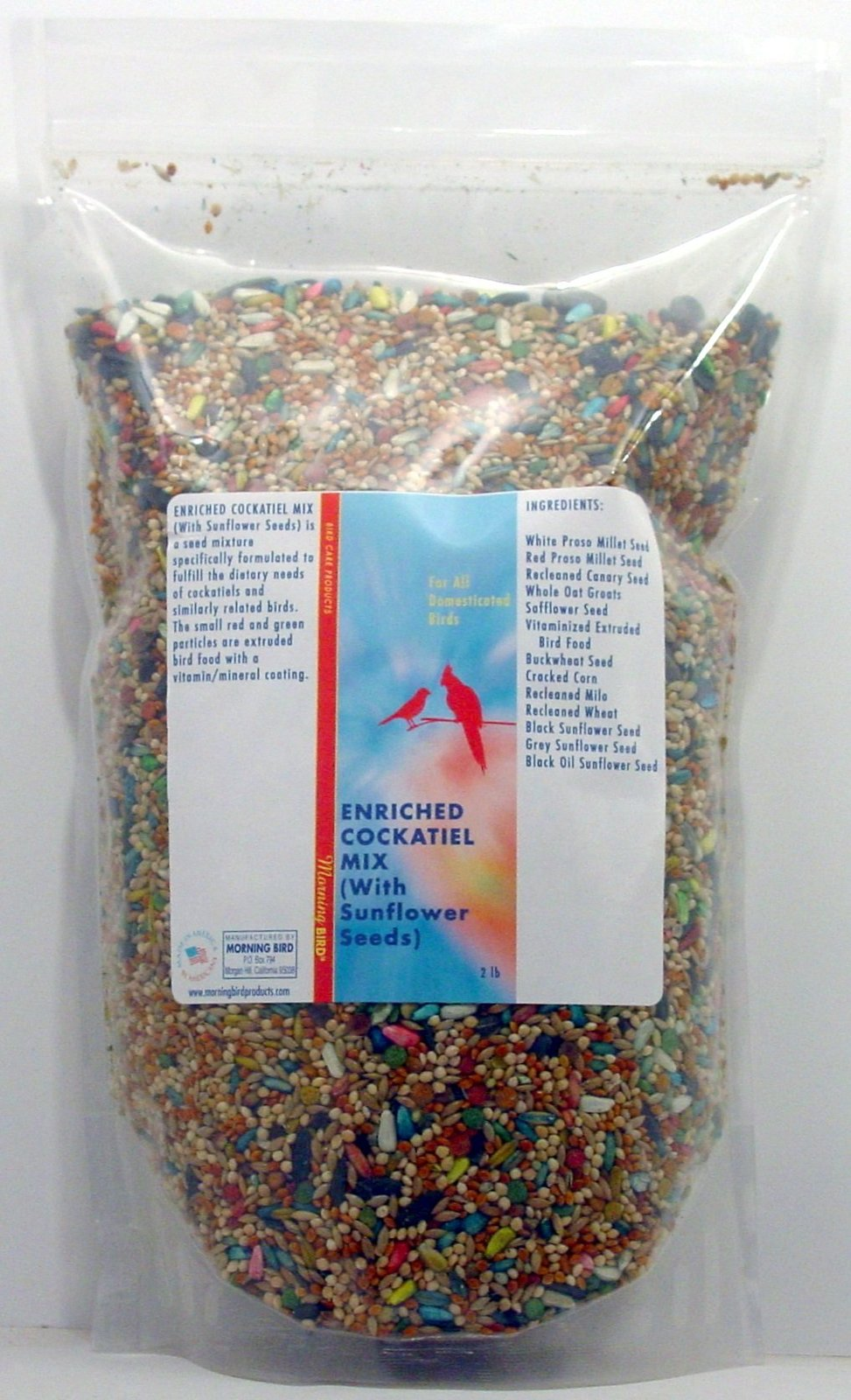 Enriched Cockatiel Mix (With Sunflower Seed) (2 lb)
