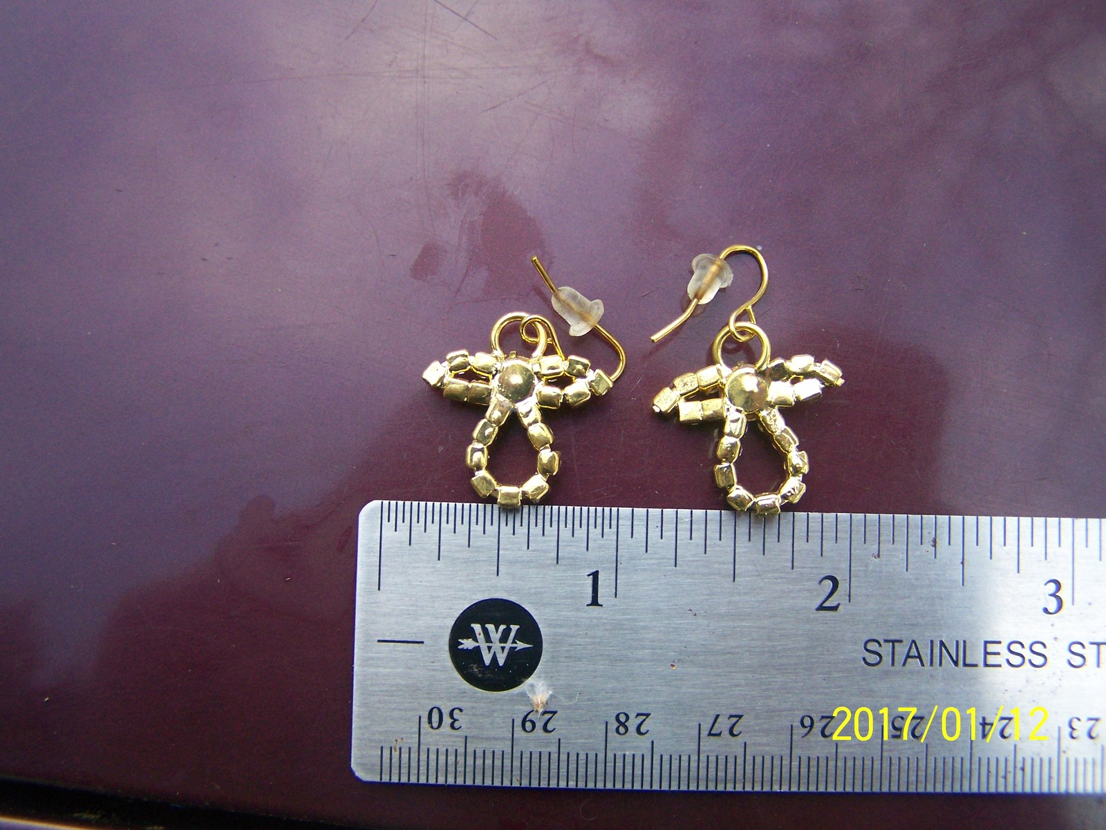 angel jeweled hook earrings