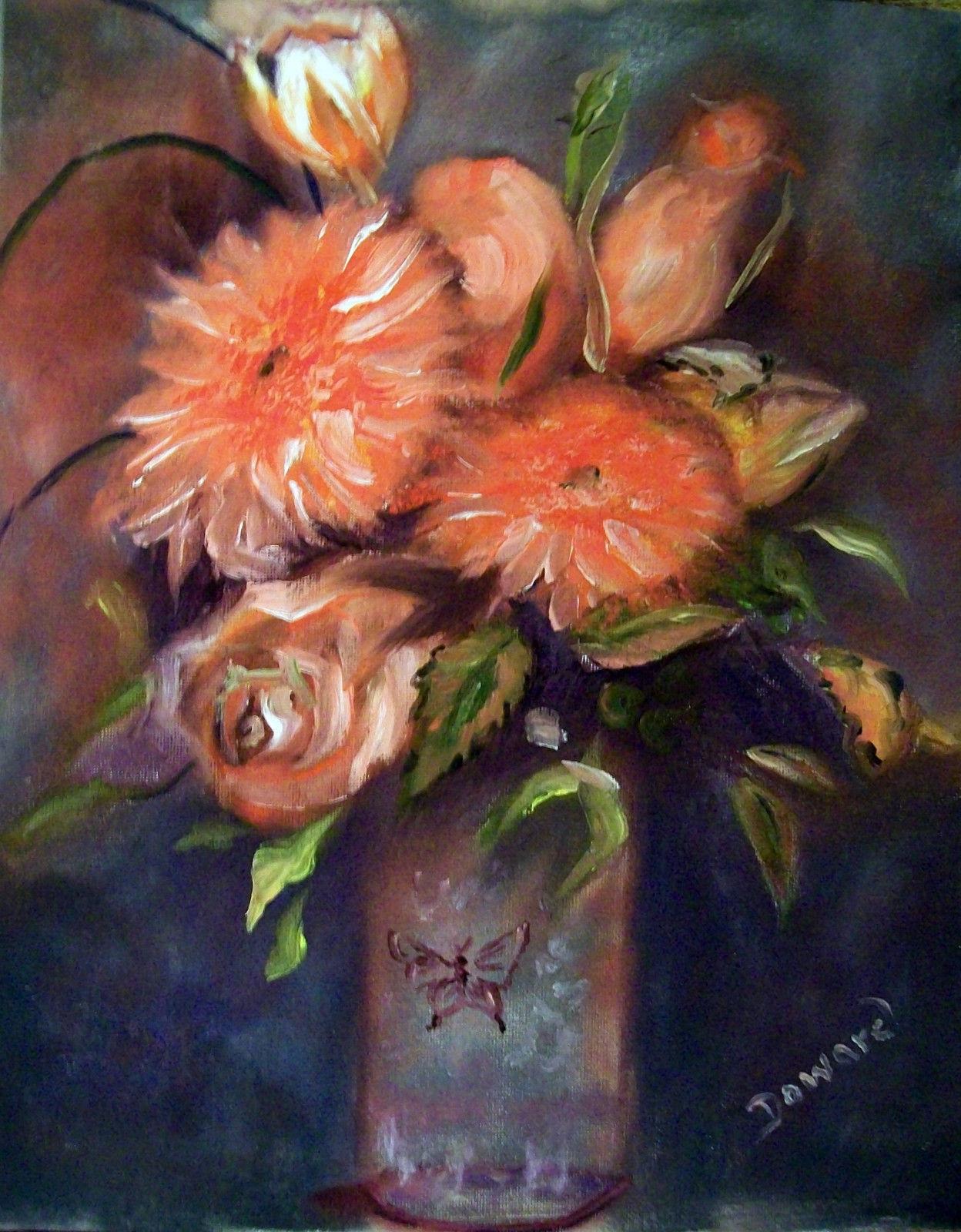 Original 8x10 Floral Canvas Wall Art 018 -: rdoward fine art