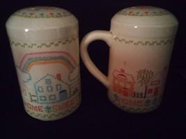Vintage Enesco 1982 Salt & Pepper Shakers Home Sweet Home, Made in Japan - $3.95