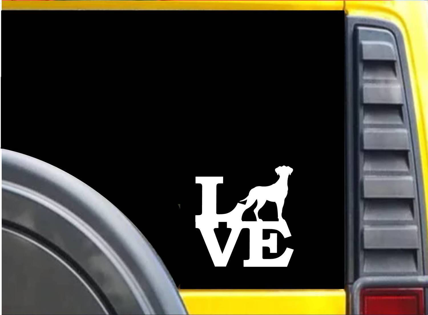 Great Dane Love K611 6 inch Sticker uncropped dog decal