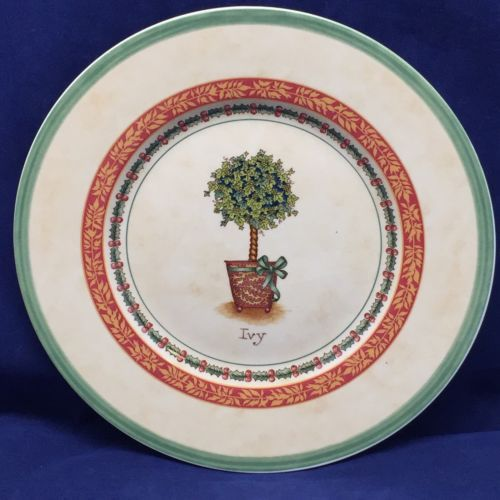 "Villeroy & Boch 1748 IVY Festive Memories Topiary Salad Plate Germany 8 1/2"" Dia"