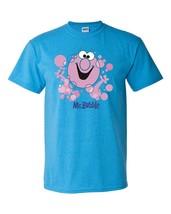 Mr. Bubble T-shirt Free Shipping retro 1980's 70's cotton blend heather blue tee image 2