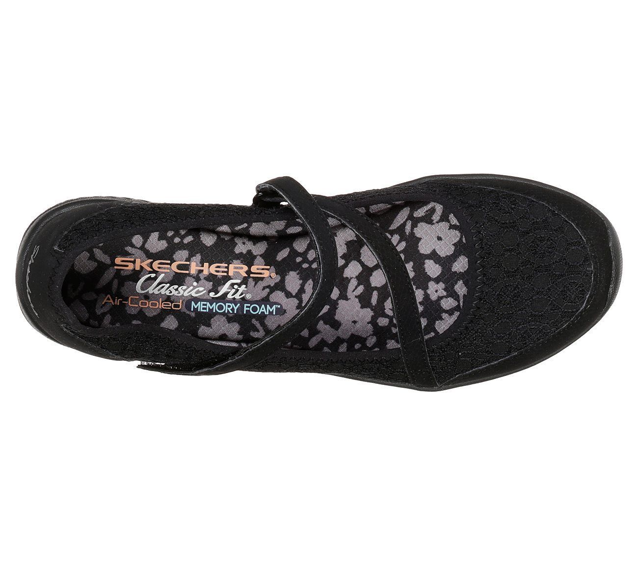 23258 Black Skechers shoes Memory Foam Women Comfort Casual Soft Mesh Mary Jane