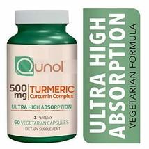 Turmeric Curcumin 500mg Vegetarian Capsules, Qunol Ultra High Absorption... - $30.52
