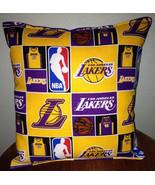Lakers Pillow Los Angeles Lakers Pillow NBA LA Lakers Handmade in USA - $9.99