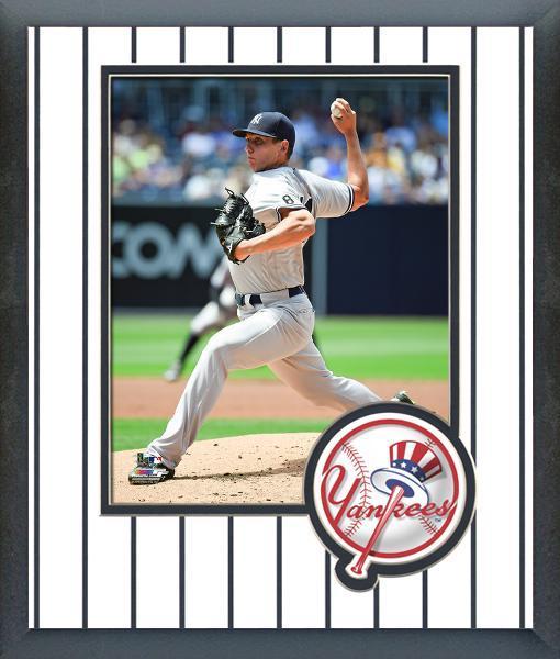 Chad Green 2016 New York Yankees -11x14 Team Logo Matted/Framed Photo